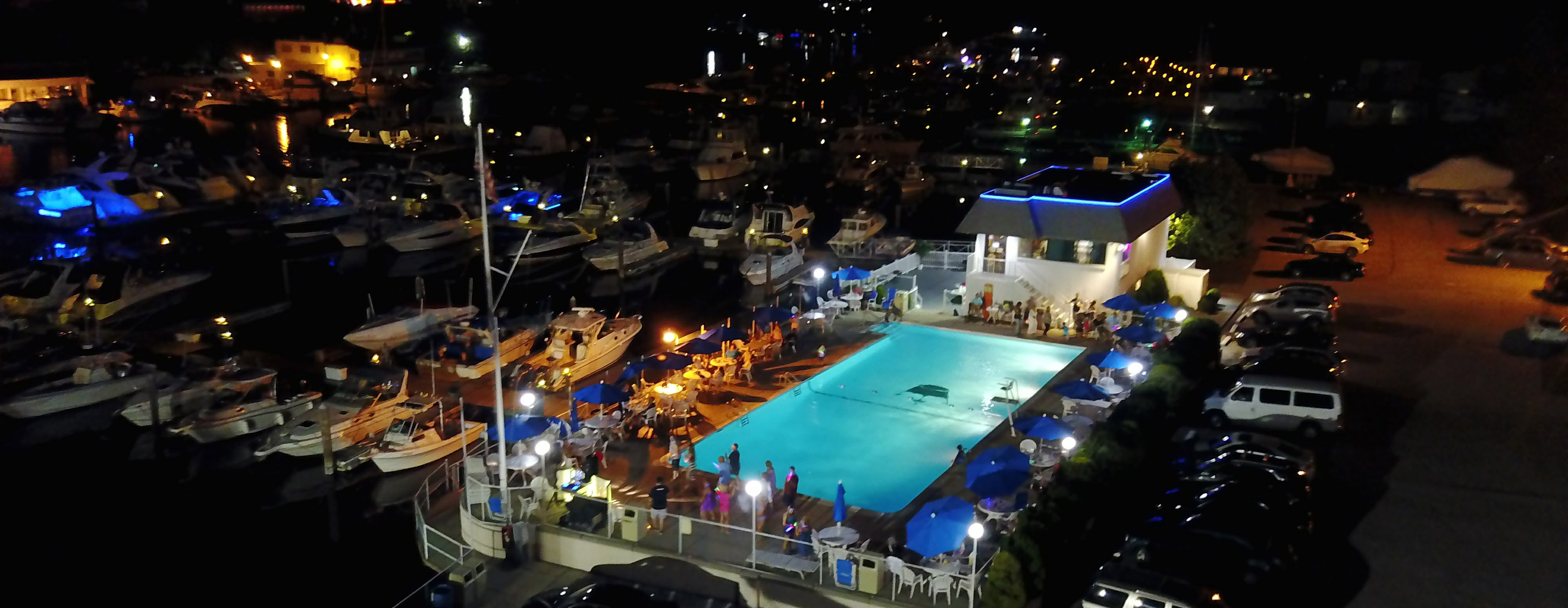 Imperial Yacht Club Pool At Night, New Rochelle, NY